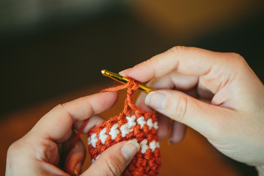 Crochet Yoh : ... and Ending Double Crochet Row in Tubular Crochet The Firefly Hook