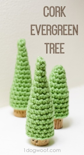 Featured Free Pattern: Cork Evergreen Tree by One Dog Woof