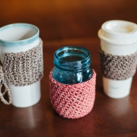 Mason Jar Cozy Free Pattern, Tutorial & Designer Notes