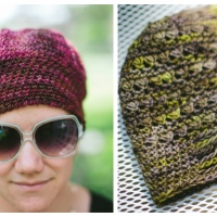 Free Pattern: Dove and Peacock Chemo Caps
