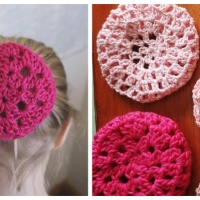 Ballet Bun Covers - Free Crochet Pattern