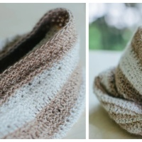 Coffee With Your Cream Cowl/Hat - Free Crochet Pattern