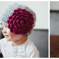 Perfect Peony - Free Crochet Hat Pattern