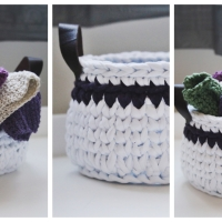 Spa Basket & Washcloths - FREE Crochet Patterns
